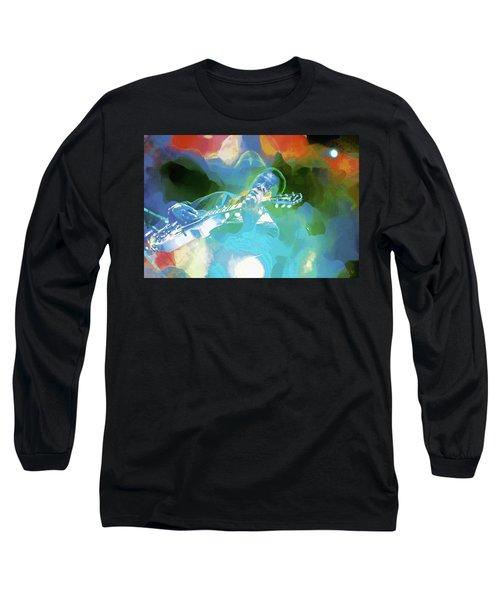 George Benson, Watercolor Long Sleeve T-Shirt