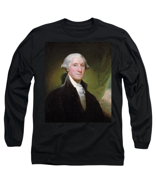 Long Sleeve T-Shirt featuring the painting George Washington Portrait by Gilbert Stuart