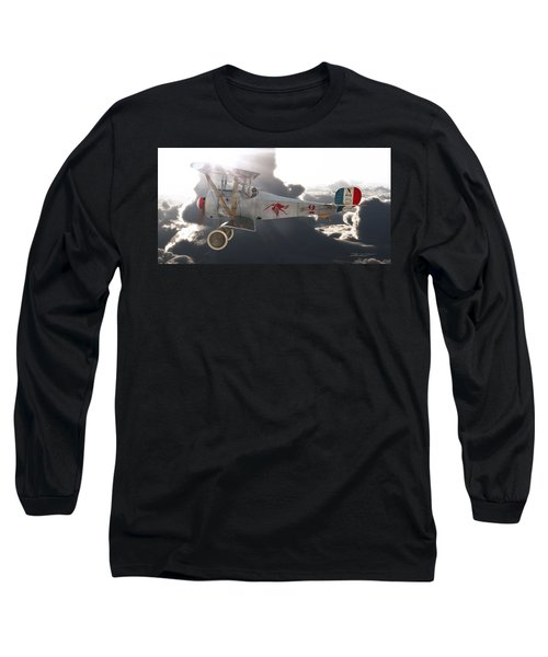 Georges Guynemer Nieuport 17 Long Sleeve T-Shirt by David Collins