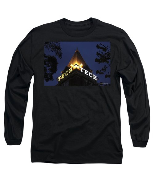 Georgia Tech Atlanta Georgia Art Long Sleeve T-Shirt by Reid Callaway