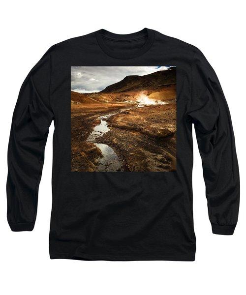Geothermal Area Krysuvik In Iceland Long Sleeve T-Shirt