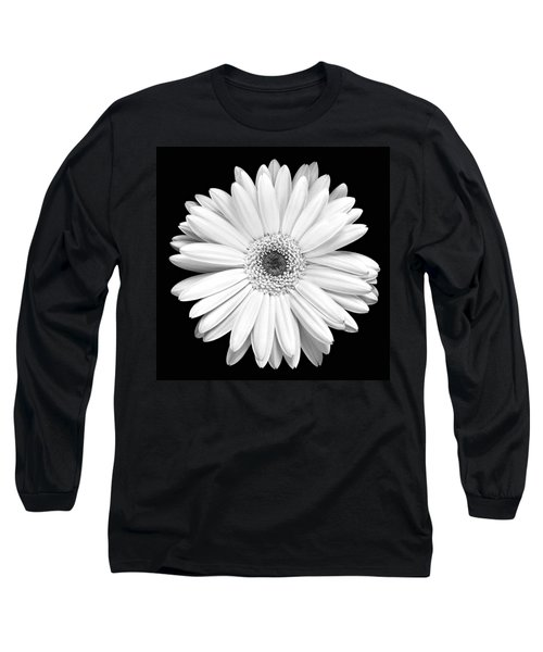 Single Gerbera Daisy Long Sleeve T-Shirt by Marilyn Hunt