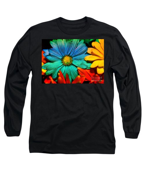 Gerbera Daisy Long Sleeve T-Shirt by Tina LeCour