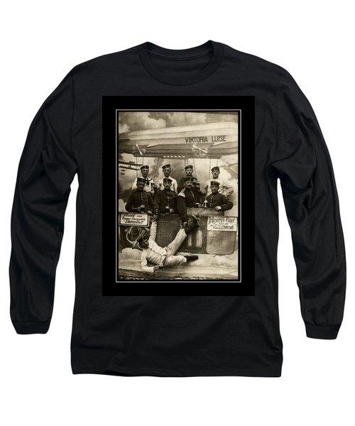 German Military Officers Zeppelin Crew 1913 Long Sleeve T-Shirt by Peter Gumaer Ogden