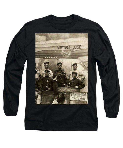German Military Officers Zeppelin Crew 1913 Long Sleeve T-Shirt