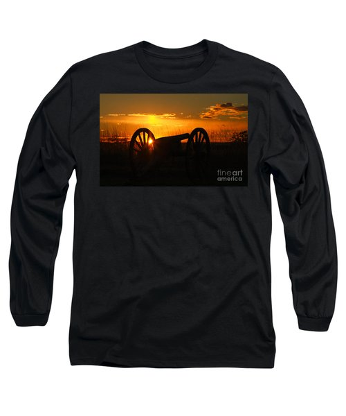 Long Sleeve T-Shirt featuring the photograph Gettysburg Cannon Sunset by Randy Steele