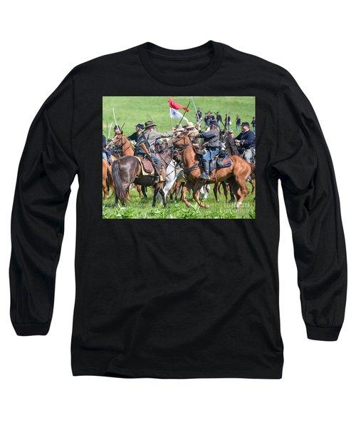 Gettysburg Cavalry Battle 8021c  Long Sleeve T-Shirt