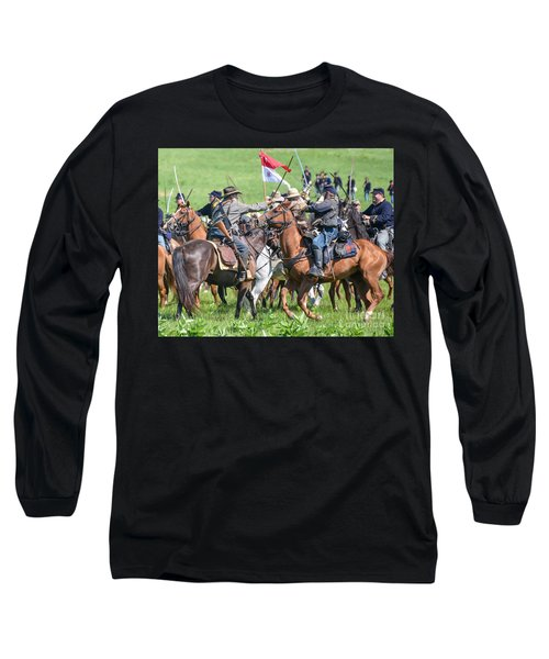 Gettysburg Cavalry Battle 8021c  Long Sleeve T-Shirt