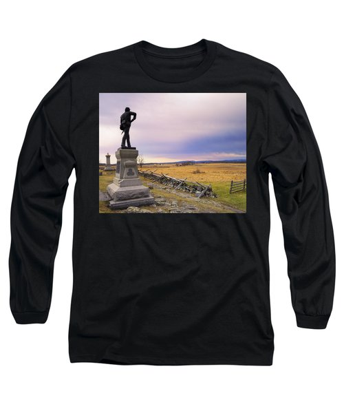 Long Sleeve T-Shirt featuring the photograph Gettysburg Monument I by Marianne Campolongo