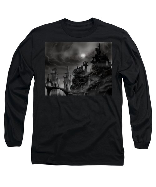 Ghost Castle Long Sleeve T-Shirt by James Christopher Hill