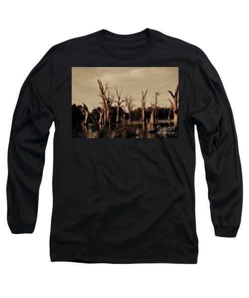Ghostly Trees V2 Long Sleeve T-Shirt by Douglas Barnard