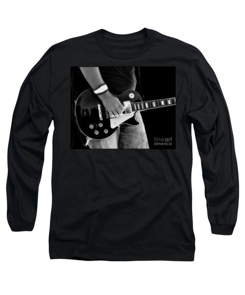 Long Sleeve T-Shirt featuring the photograph Gibson Les Paul Guitar  by Randy Steele