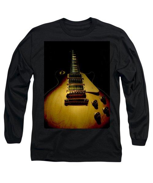Long Sleeve T-Shirt featuring the digital art Guitar Triple Pickups Spotlight Series by Guitar Wacky