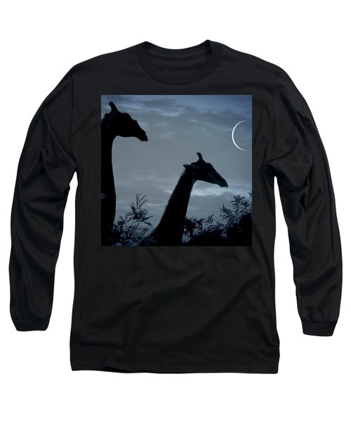 Giraffe Moon  Long Sleeve T-Shirt