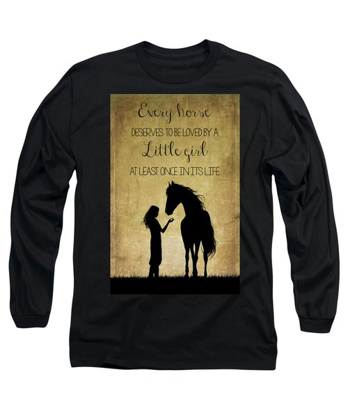 Girl And Horse Silhouette Long Sleeve T-Shirt