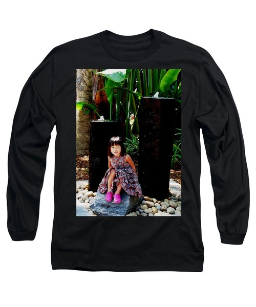 Girl On Rocks Long Sleeve T-Shirt