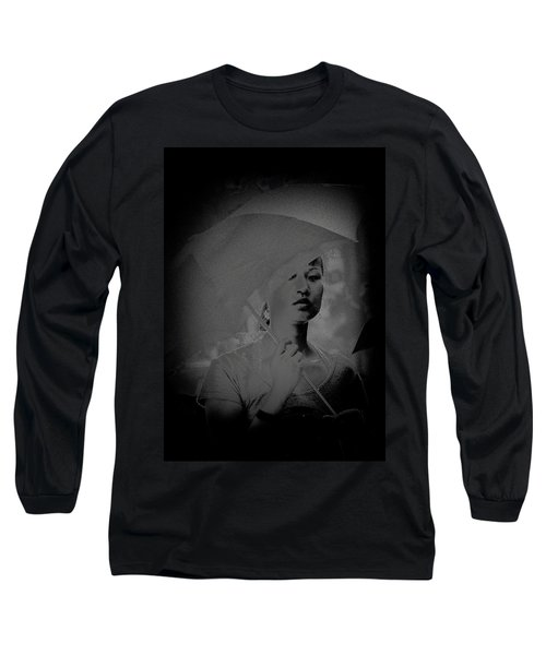 Girl With Umbrella Long Sleeve T-Shirt by Patrick Kain