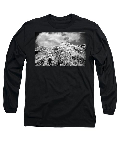 Long Sleeve T-Shirt featuring the photograph Glacier On Mt Rainier by Lori Seaman