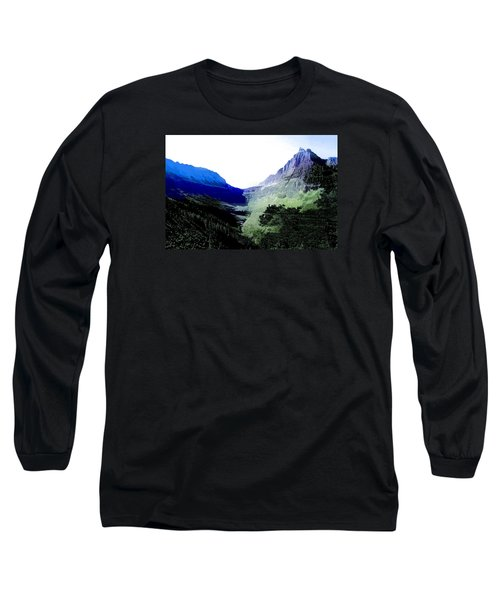 Long Sleeve T-Shirt featuring the photograph Glacier Park Simplified by Susan Crossman Buscho