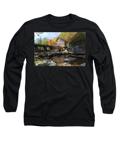 Long Sleeve T-Shirt featuring the photograph Glade Creek Grist Mill by Steve Stuller