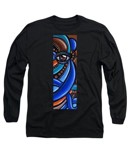Abstract Eye Art Acrylic Eye Painting Surreal Colorful Chromatic Artwork Long Sleeve T-Shirt