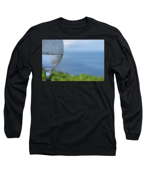 Glass Half Full Long Sleeve T-Shirt by JoAnn Lense