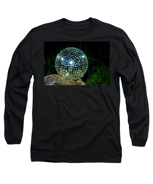 Long Sleeve T-Shirt featuring the photograph Glass On Wood by Albert Seger