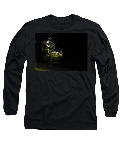 Long Sleeve T-Shirt featuring the photograph Glass Shard by Susan Capuano