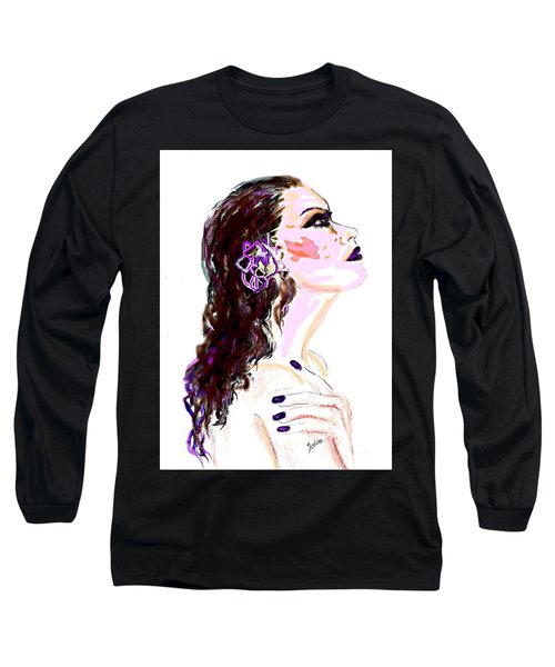 Long Sleeve T-Shirt featuring the digital art Glaze by Desline Vitto