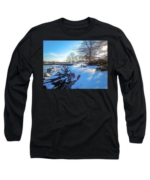 Glen Island Snowfall Long Sleeve T-Shirt