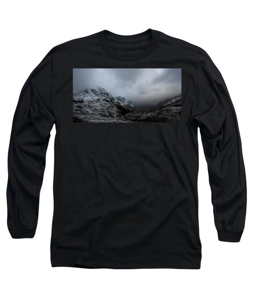 Long Sleeve T-Shirt featuring the digital art Glencoe - Three Sisters by Pat Speirs
