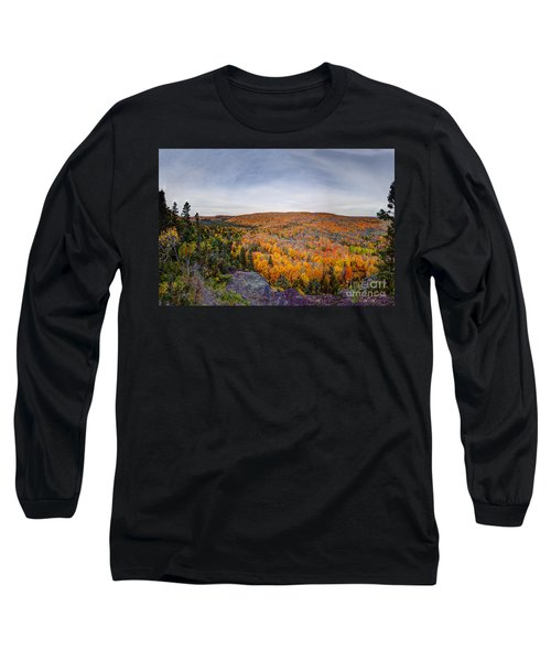 Glorious Autumn Lutsen Mountain Resort North Shore Minnesota Long Sleeve T-Shirt