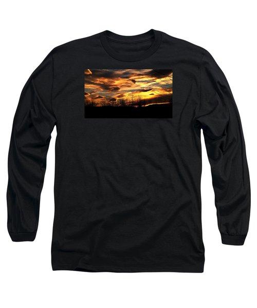 Glorious Maine Sunset Long Sleeve T-Shirt
