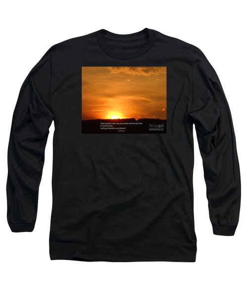 Glory And Thanks  Long Sleeve T-Shirt by Christina Verdgeline