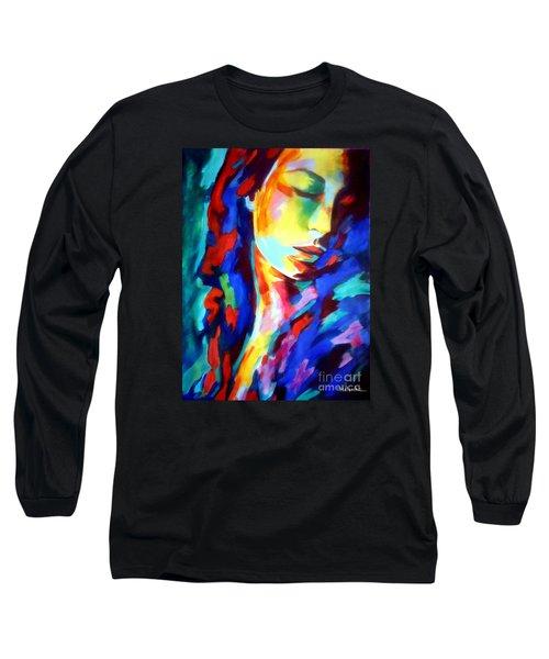 Glow In Shadows Long Sleeve T-Shirt by Helena Wierzbicki