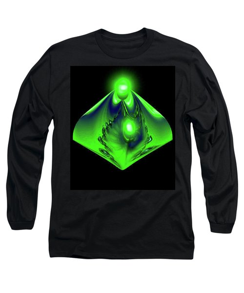 Long Sleeve T-Shirt featuring the mixed media Glow by Kevin Caudill