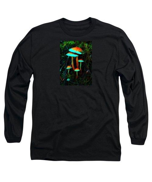 Long Sleeve T-Shirt featuring the photograph Glowing Mushrooms by Yulia Kazansky