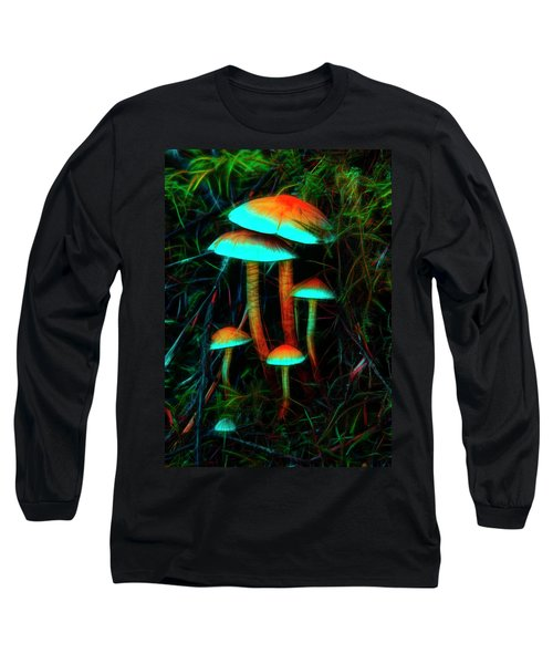 Glowing Mushrooms Long Sleeve T-Shirt