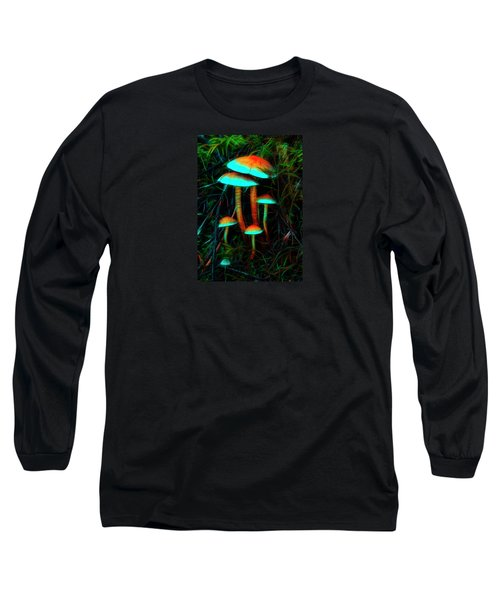 Long Sleeve T-Shirt featuring the photograph Glowing Mushrooms by Yulia Kazansky