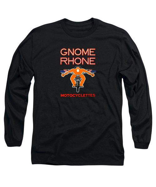 Gnome Rhone Motorcycles Long Sleeve T-Shirt by Mark Rogan