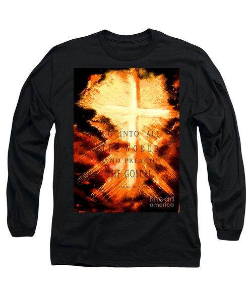 Go Into All The World Long Sleeve T-Shirt by Hazel Holland