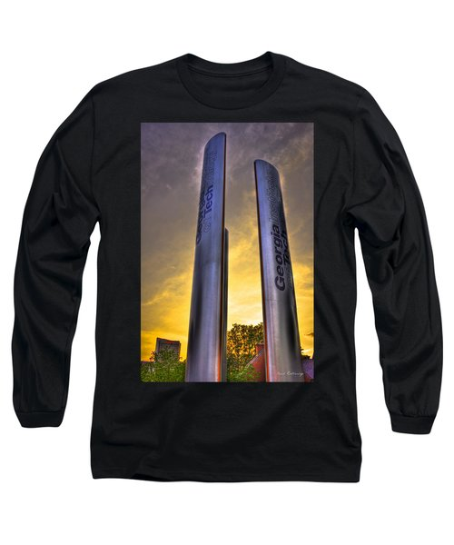 Go Tech Georgia Tech Sunset Art Long Sleeve T-Shirt by Reid Callaway