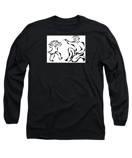 Long Sleeve T-Shirt featuring the mixed media Go To Bed by Delin Colon