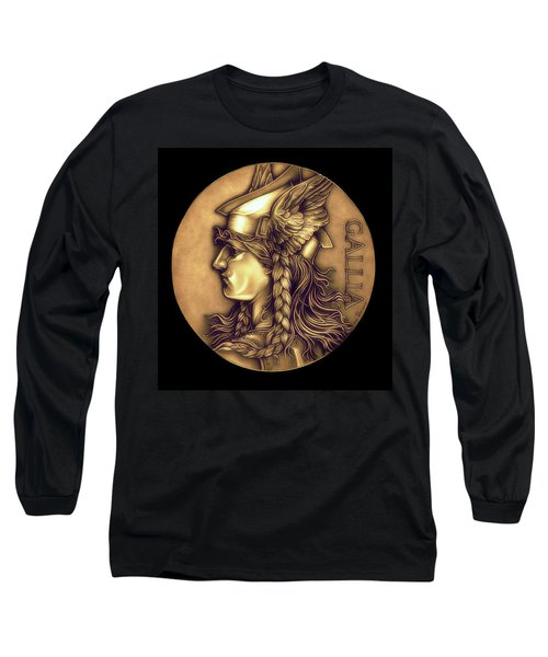 Goddess Of Gaul Long Sleeve T-Shirt by Fred Larucci