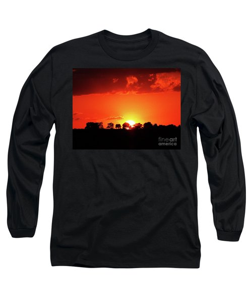 Long Sleeve T-Shirt featuring the photograph God's Gracful Sunset by J L Zarek