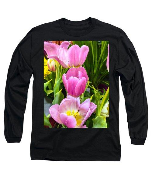 God's Tulips Long Sleeve T-Shirt by Carlos Avila