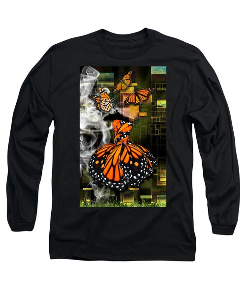 Long Sleeve T-Shirt featuring the mixed media Going The Distance by Marvin Blaine