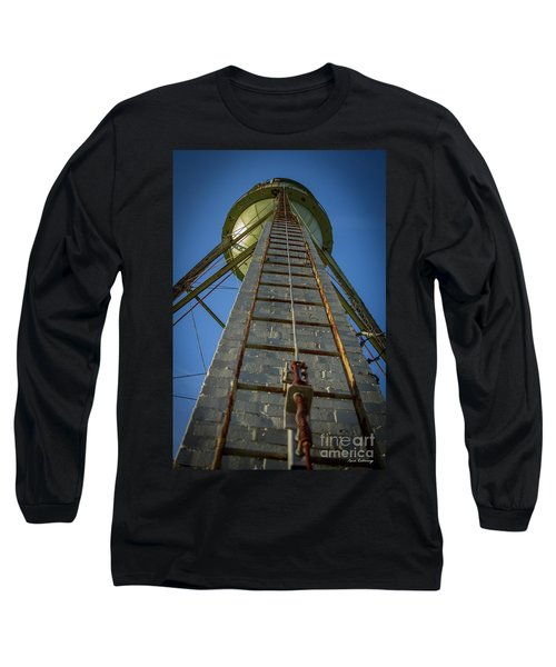 Long Sleeve T-Shirt featuring the photograph Going Up Mary Leila Cotton Mill Water Tower Art by Reid Callaway