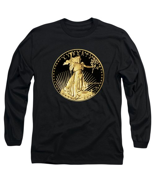 Gold Coin Front Long Sleeve T-Shirt by Phyllis Denton