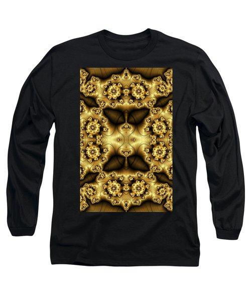 Gold N Brown Phone Case Long Sleeve T-Shirt by Lea Wiggins